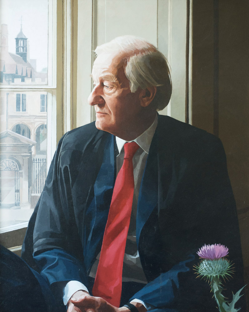 <p>Lord Wilson of Tillyorn, oil , 61 x 50cm, 2005</p>