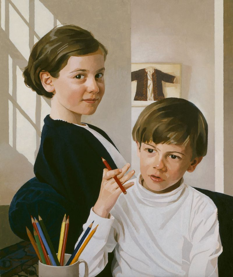 <p>Olivia and Oscar, oil</p>