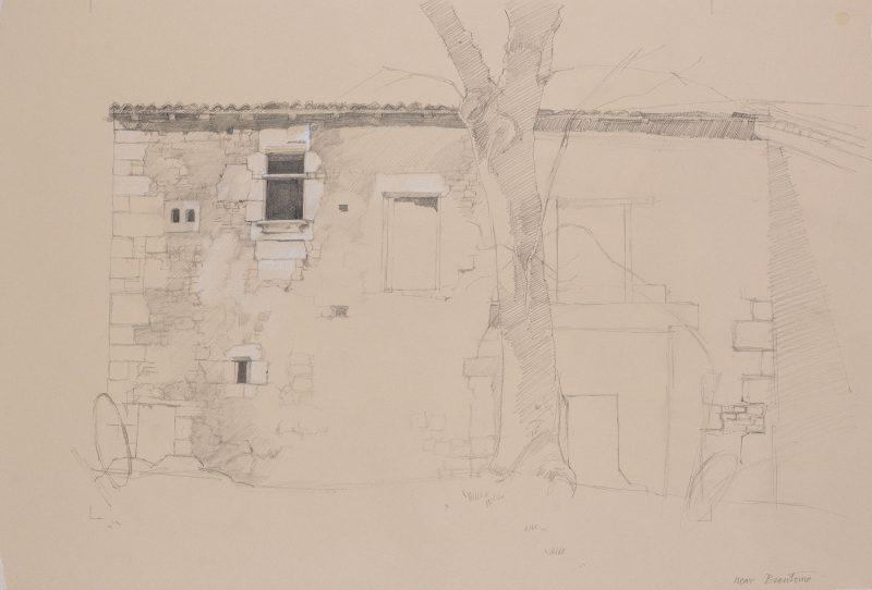 <p>Avendre, Brantome, pencil 48 x 62</p>