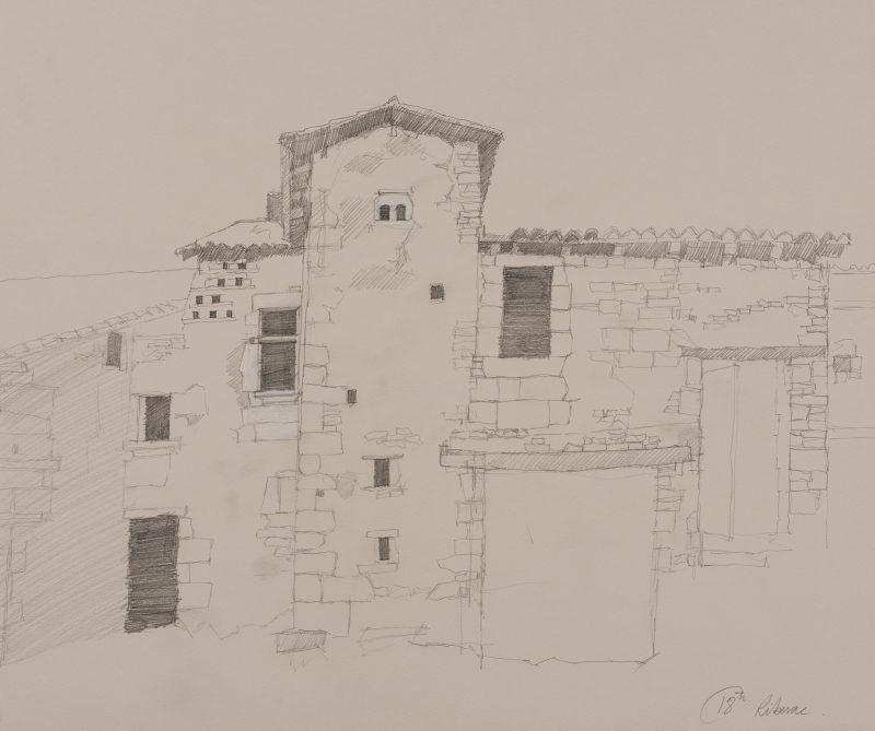 <p>Avendre, Riberac, pencil and chalk, 40 x 60cm</p>