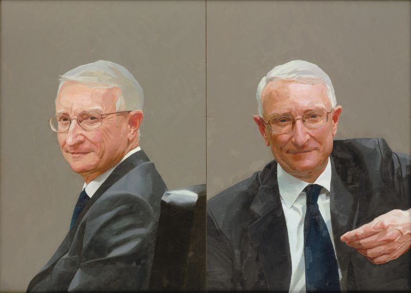 <p>Dr John Hood (double), oil, 51 x 71cm, 2010</p>