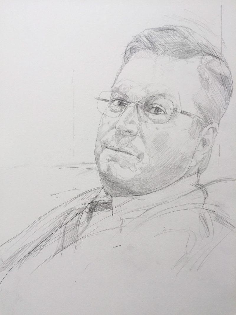 <p>Eric Widing, pencil, 40 x 30cm</p>