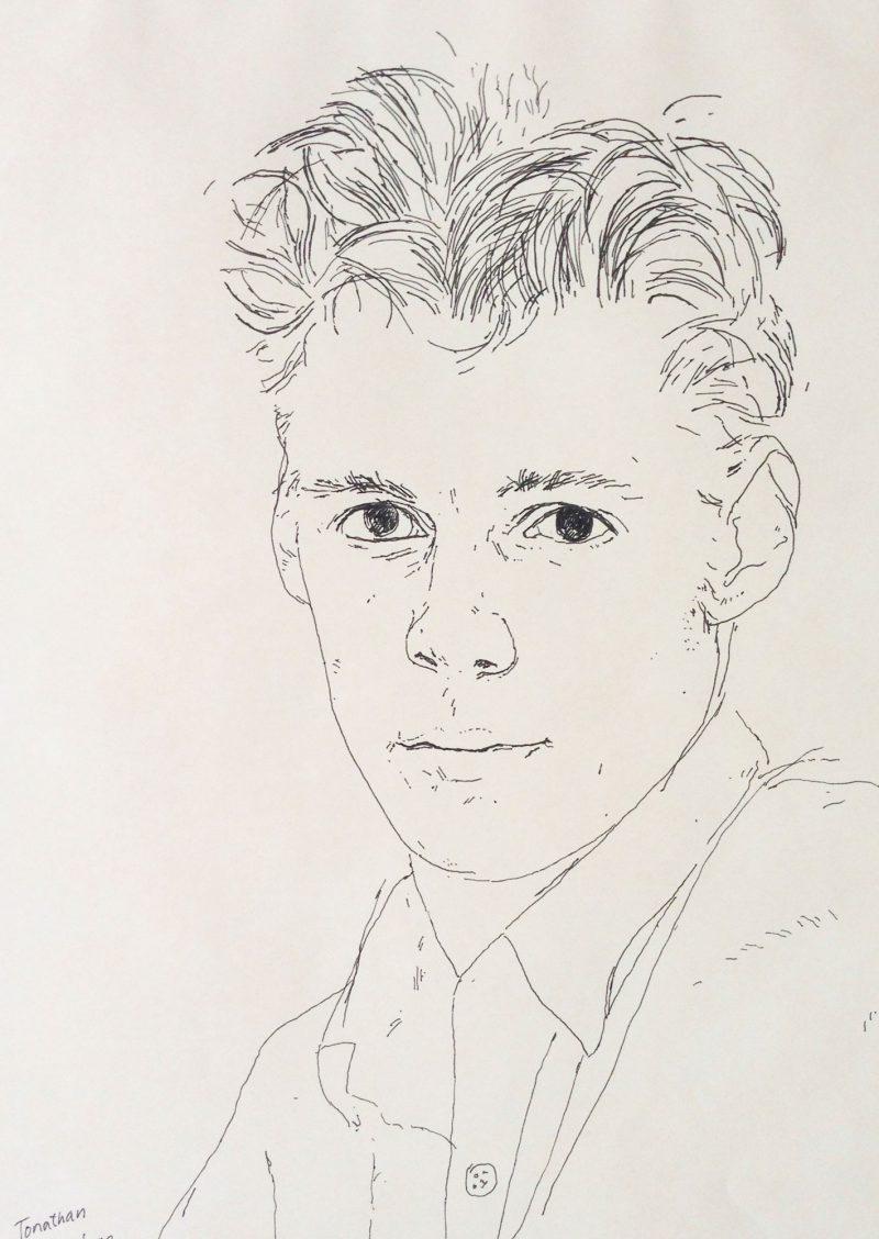 <p>Jonathan, ink, 25 x 18cm</p>