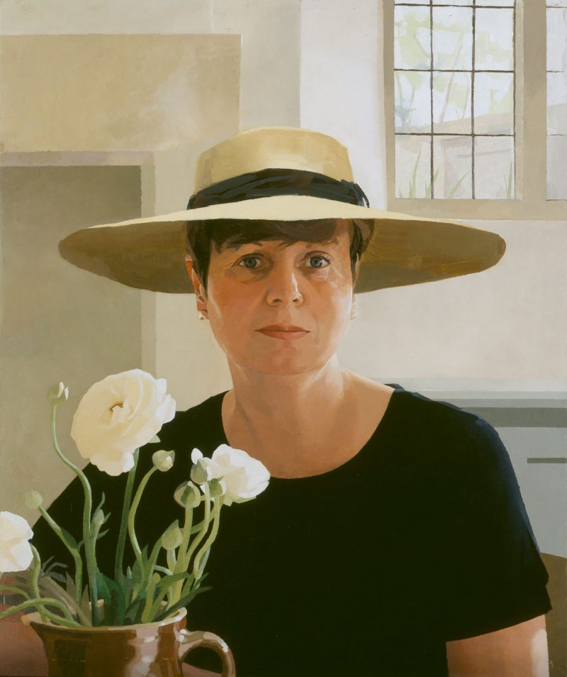 <p>Judy in a Sun Hat, oil, 76 x 51cm</p>