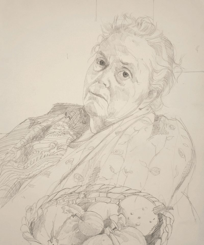 <p>Julia Trevelyan-Oman, pencil, 40 x 30cm</p>