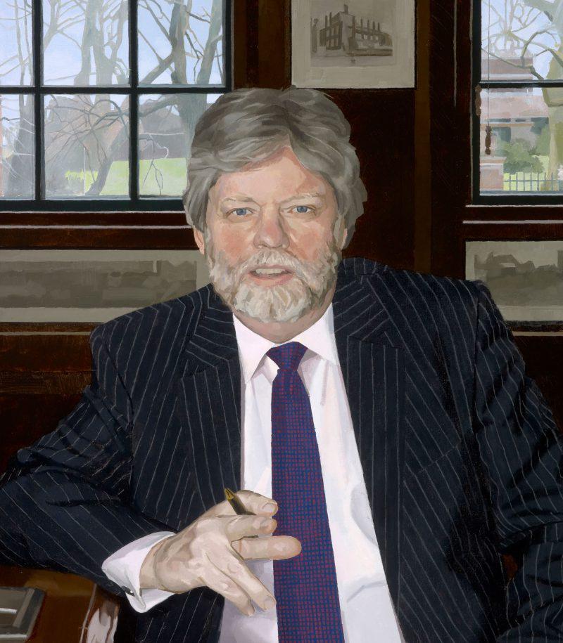 <p>Ken Durham, Headmaster, oil, 92 x 61cm</p>
