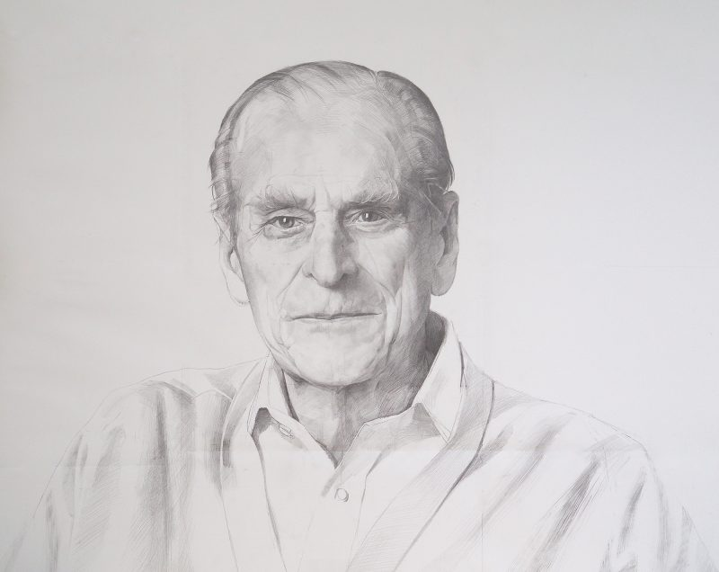 <p>Large Prince Philip, pencil, 106 x 153cm</p>