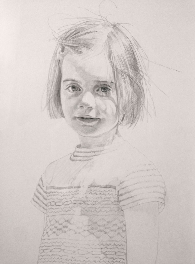 <p>Mary Rees-Mogg, pencil, 40 x 30</p>
