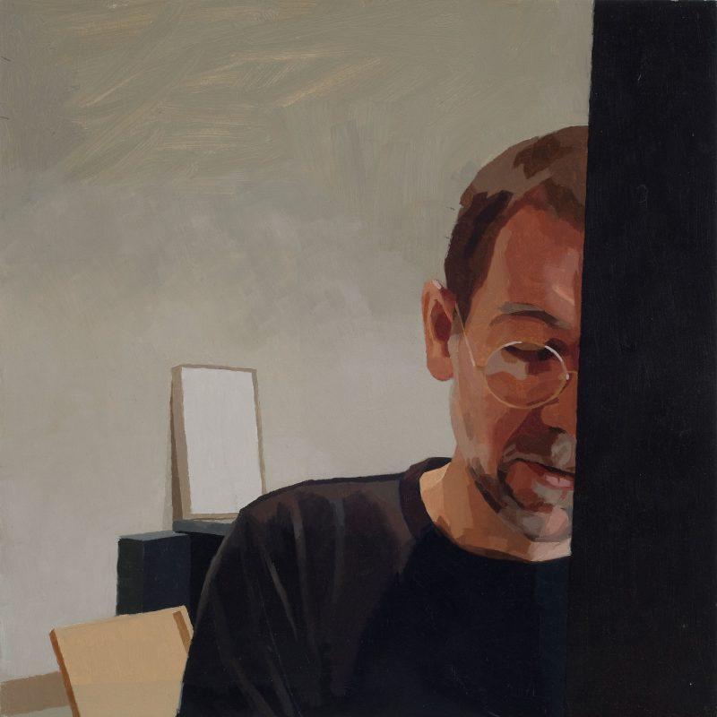 <p>Me Painting, oil, 30 x 30cm</p>