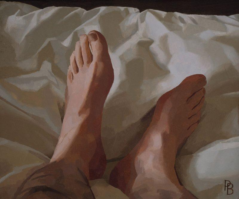 My Feet, oil, 25 x 31cm