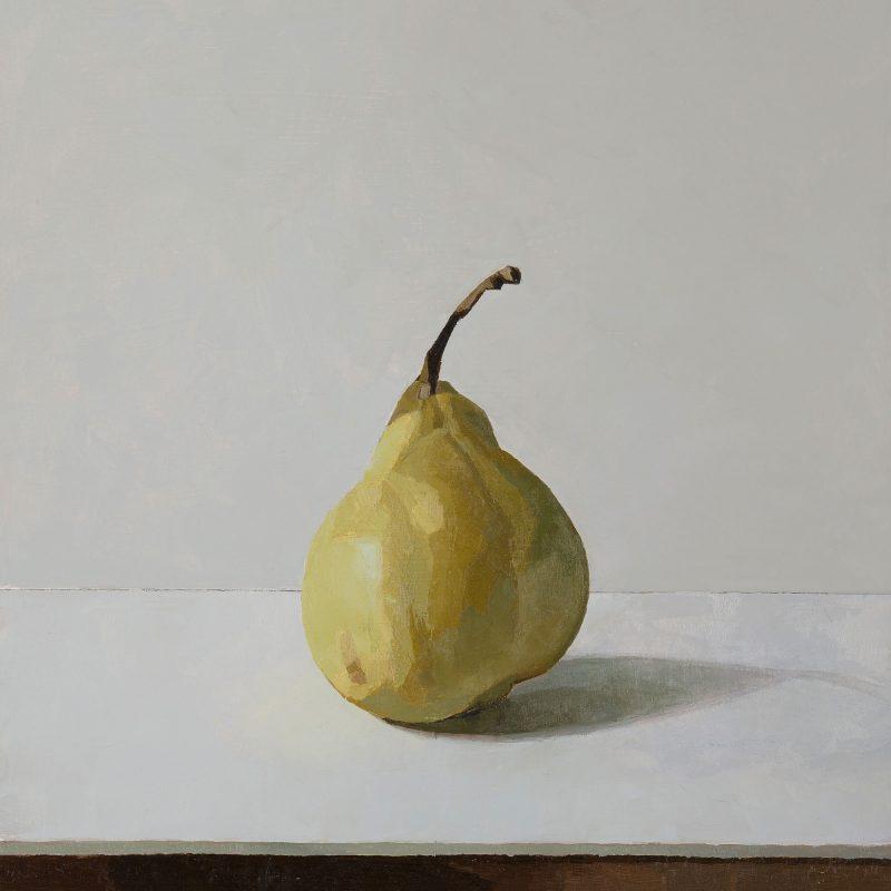 Pear, Oil, 28 x 25cm