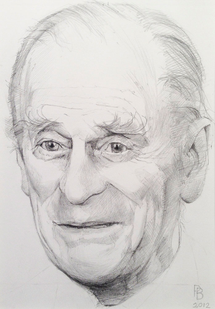<p>Prince Philip Study, pencil, 25 x 20cm</p>