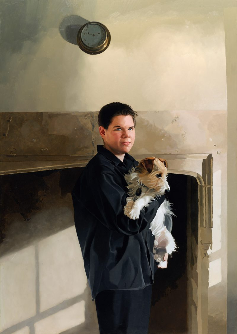 <p>Simon and Milo, oil, 152 x 107cm, 2004</p>