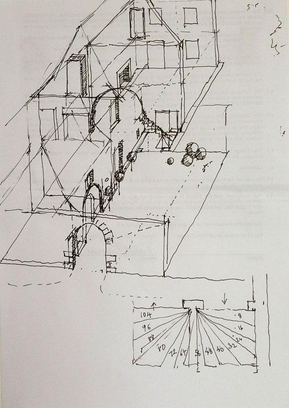 <p>St. Raphael House, ink, 25 x 18cm</p>