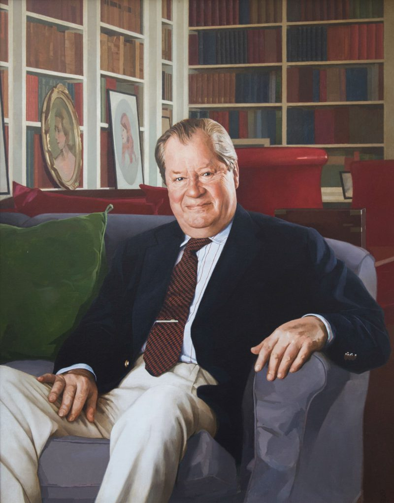 The 8th Earl Spencer, oil, 122 x 91cm