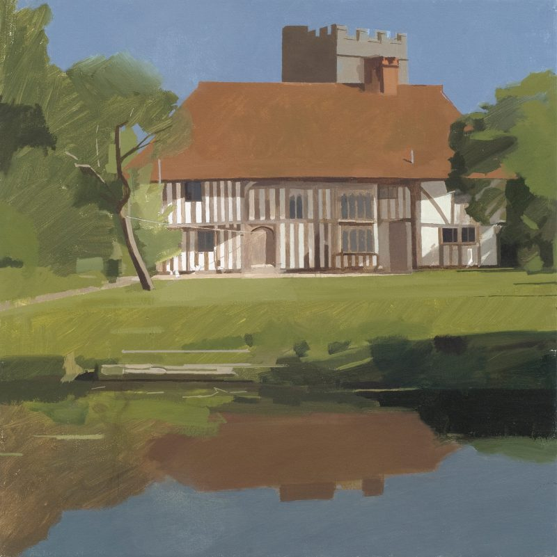 The Old Vicarage, oil, 46 x 51cm