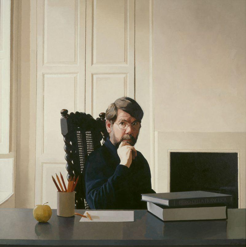 <p>Self Portrait, oil, 122 x 122cm</p>