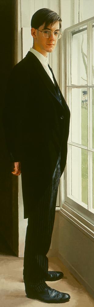 <p>Jacob Rees-Mogg, oil, 152 x 51cm</p>