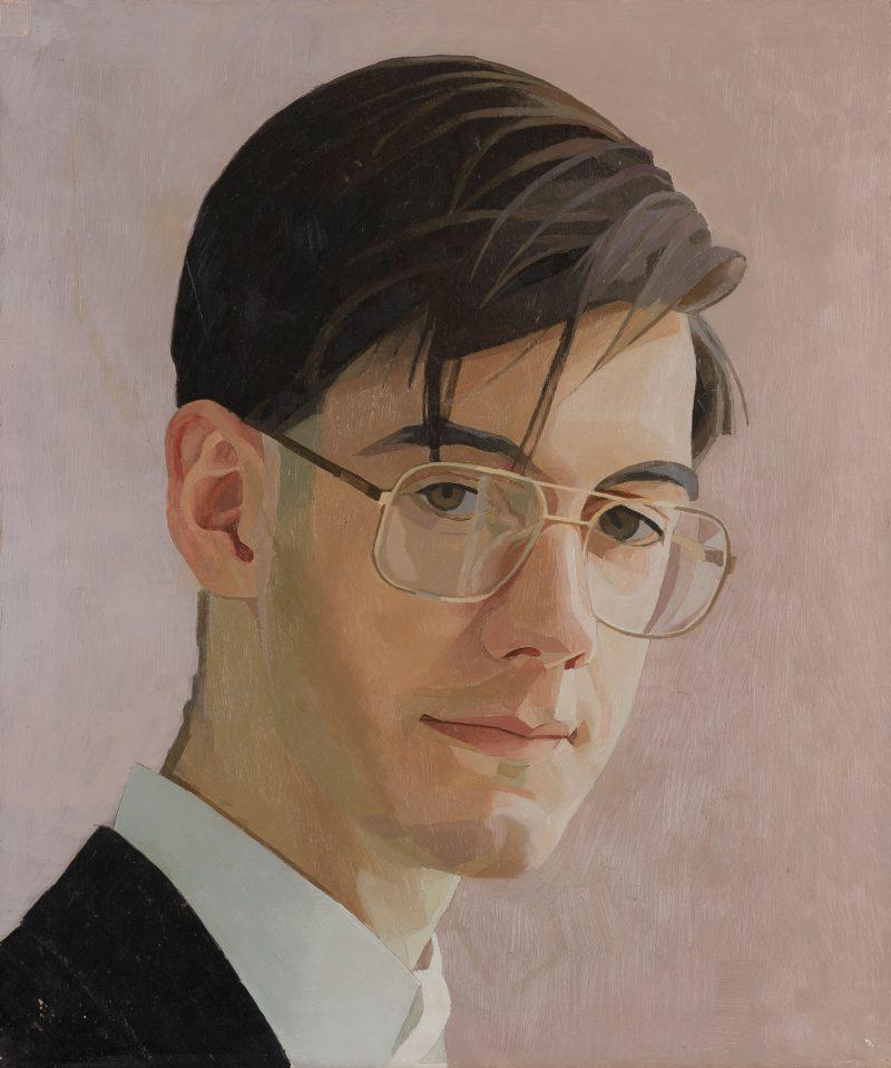 <p>Jacob Rees-Mogg, Study, oil, 30 x 25cms</p>