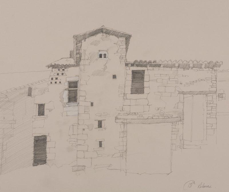 <p>Avendre, Riberac, pencil and chalk, 40 x 60cm</p>