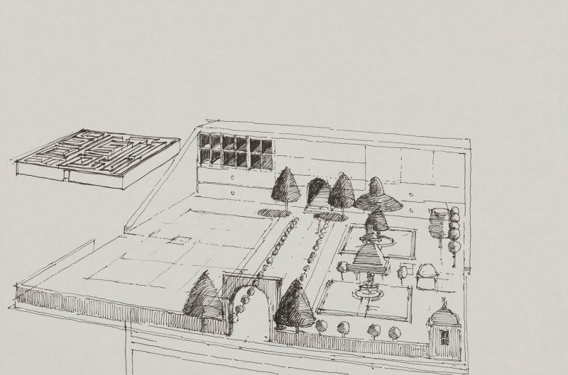<p>Bureau of Grand Designs II, ink, 20 x 30cm</p>