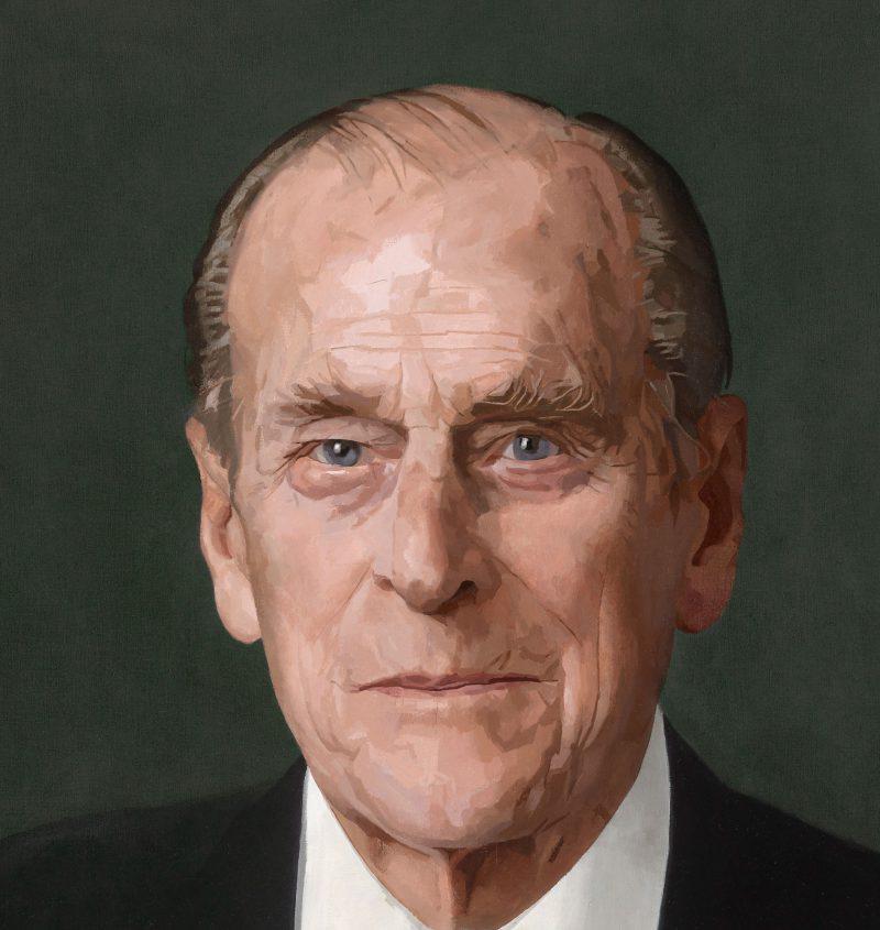 <p>HRH Prince Philip, oil, 100 x 100cm</p>