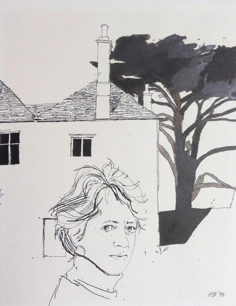 <p>Jane Reynolds, ink, 30 x 20cm</p>