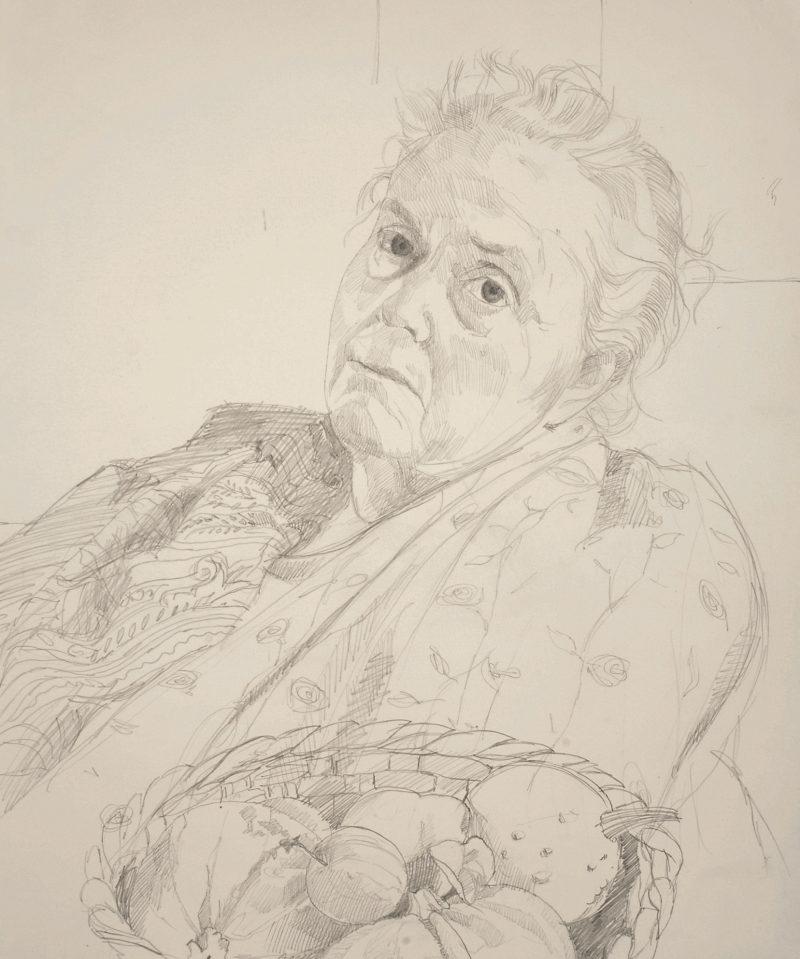 <p>Julia Trevelyan-Oman, pencil, 40 x 30cm</p>