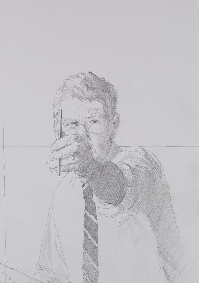 <p>Me Drawing, pencil, 40 x 30cm</p>