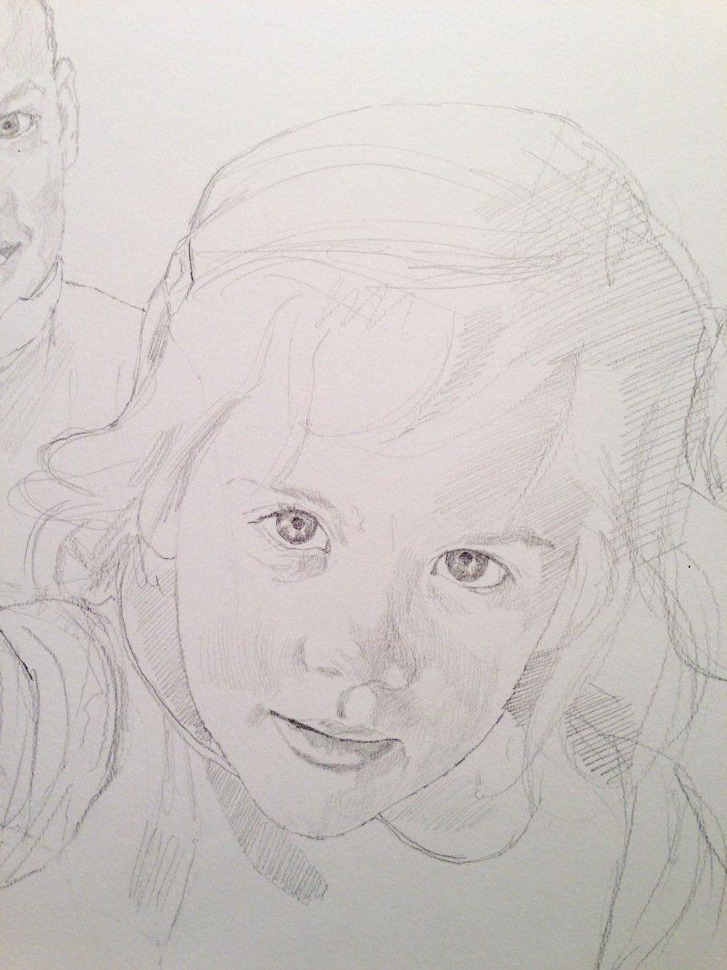 <p>Prestia Children I, pencil, 30 x 25cm</p>