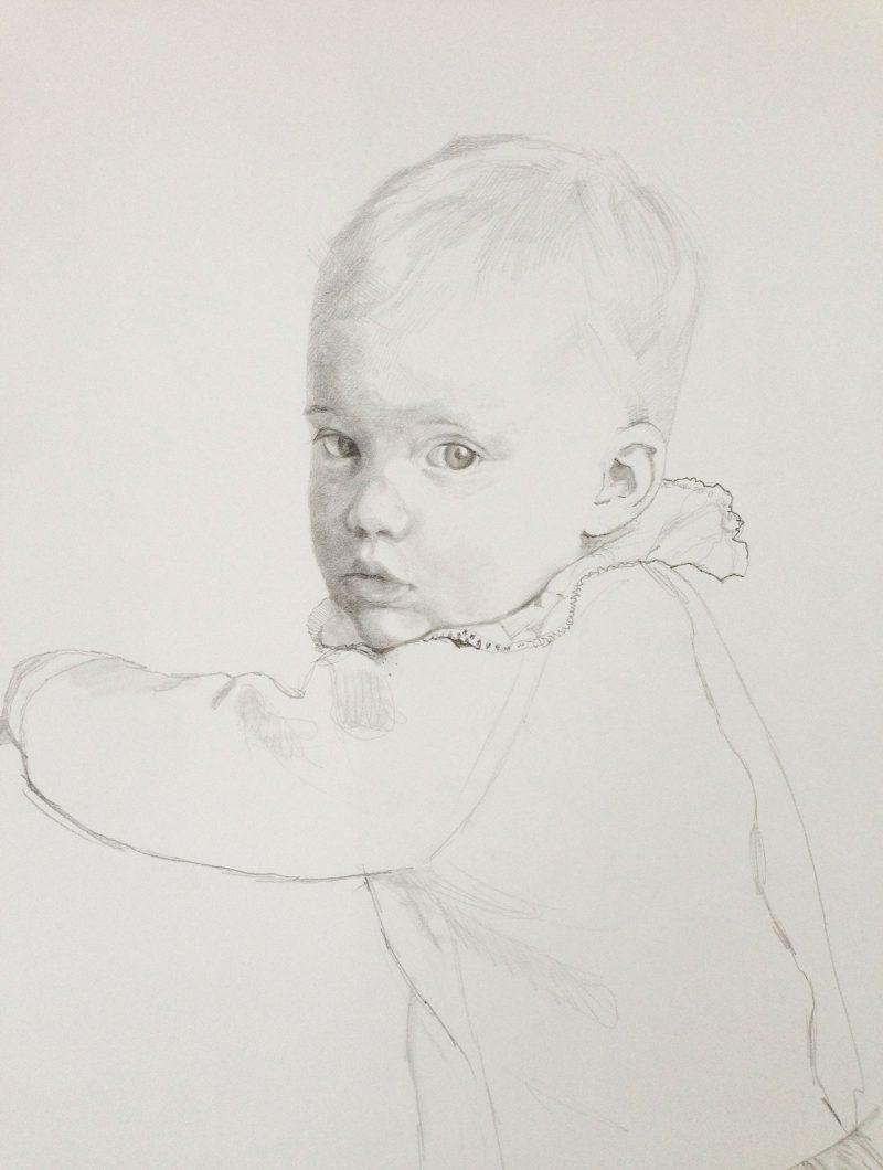 <p>Prestia Children II, pencil, 30 x 25cm</p>