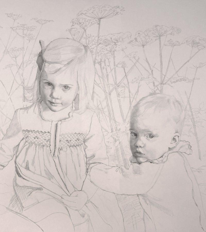 <p>Prestia Children III, pencil, 60 x 40cm</p>