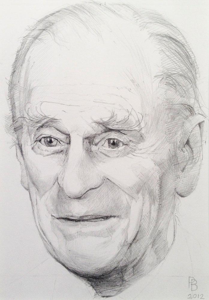 <p>Prince Philip Study, pencil, 25 x 20cm</p>
