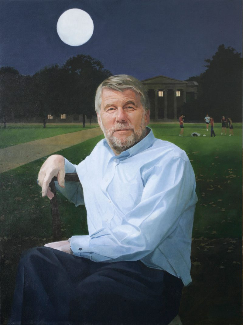 <p>Prof Barry Everett, Master of Downing college, Cambridge, 100 x 70cm</p>