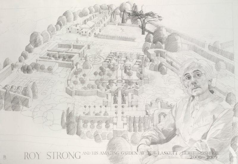 <p>Roy Strong's Garden, pencil, 100 x 153cm</p>