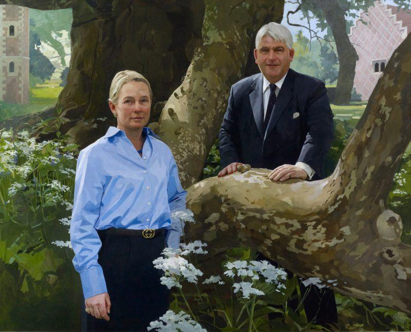 <p>Sarah and Bernard Taylor, oil, 122 x 152cm, 2011</p>