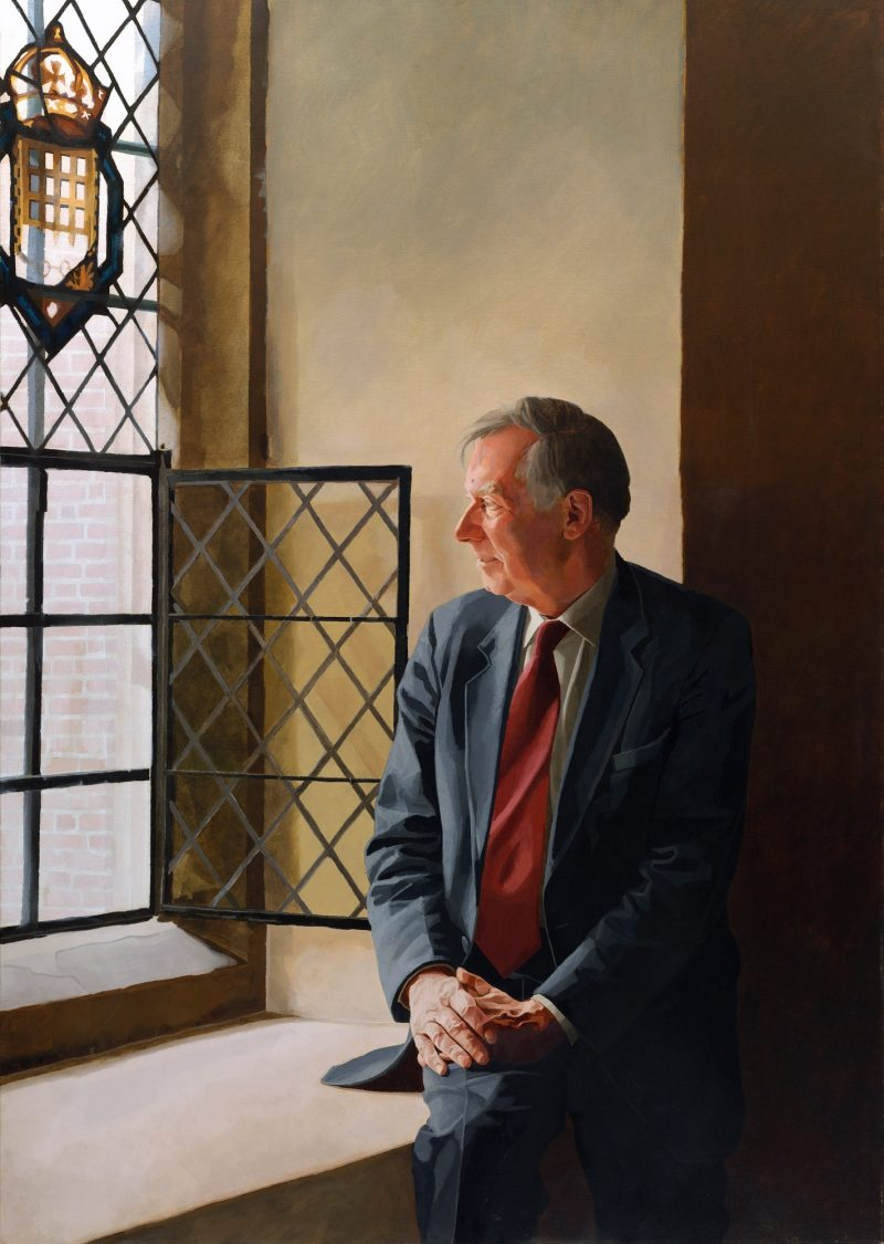 <p>Sir Eric Anderson KT, oil, 152 x 107, 2004</p>