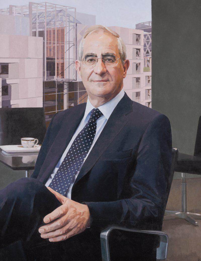 <p>Sir Keith O'Nions, oil, 91 x 71cm</p>