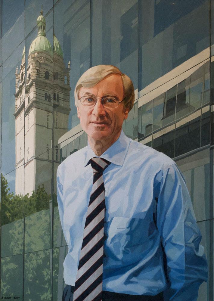 <p>Sir Richard Sykes, Imperial College, oil, 100 x 76cm</p>