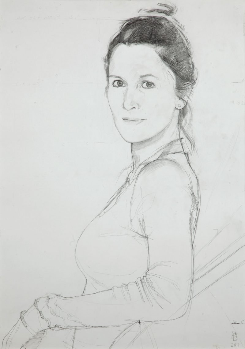 <p>Susie Wells, pencil, 50 x 40</p>